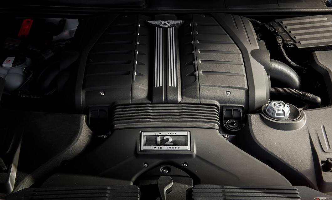 The engine bay of the Bentley Bentyayga Speed, home to the powerful W12