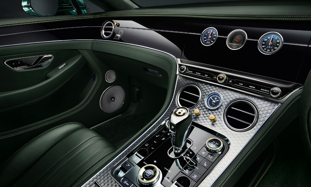 Engine Spin on the centre console of the Number 9 Continental GT