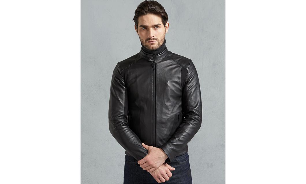 Belstaff x McLaren Men's Café racer style leather jacket-950.S001